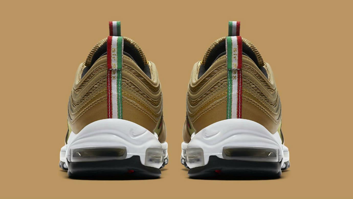 da393ccf0be9 Nike Air Max 97 Italy Flag Gold Release Date AJ8056-700 Heel