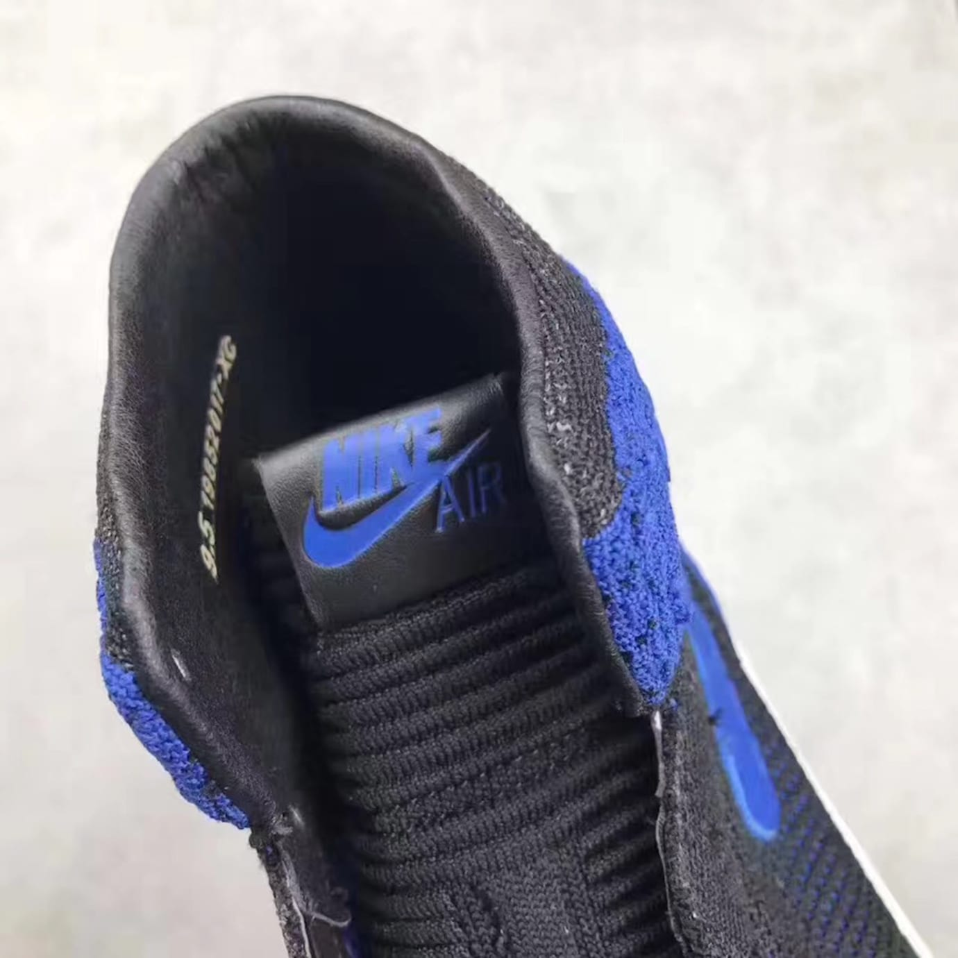 Air Jordan 1 Flyknit Royal Release Date Tongue 919704-006