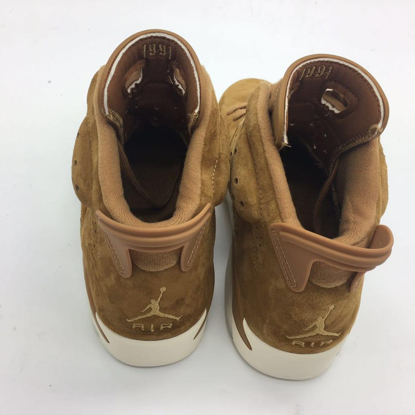 Air Jordan 6 Golden Harvest Release Date Heel 384664-705