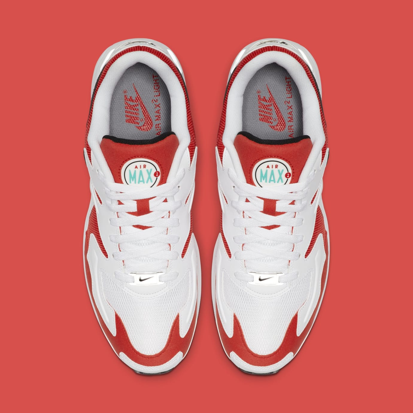 Nike Air Max2 Light 'White/Black-Habanero Red-Cool Grey' AO1741-101 (Top)