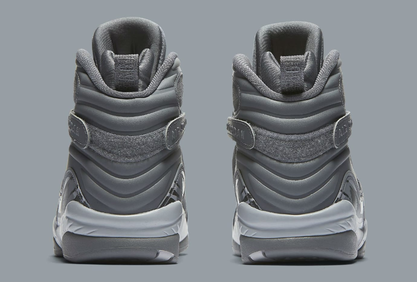 cc8ab789a9ca Air Jordan 8 VIII Cool Grey Release Date Heel 305381-014