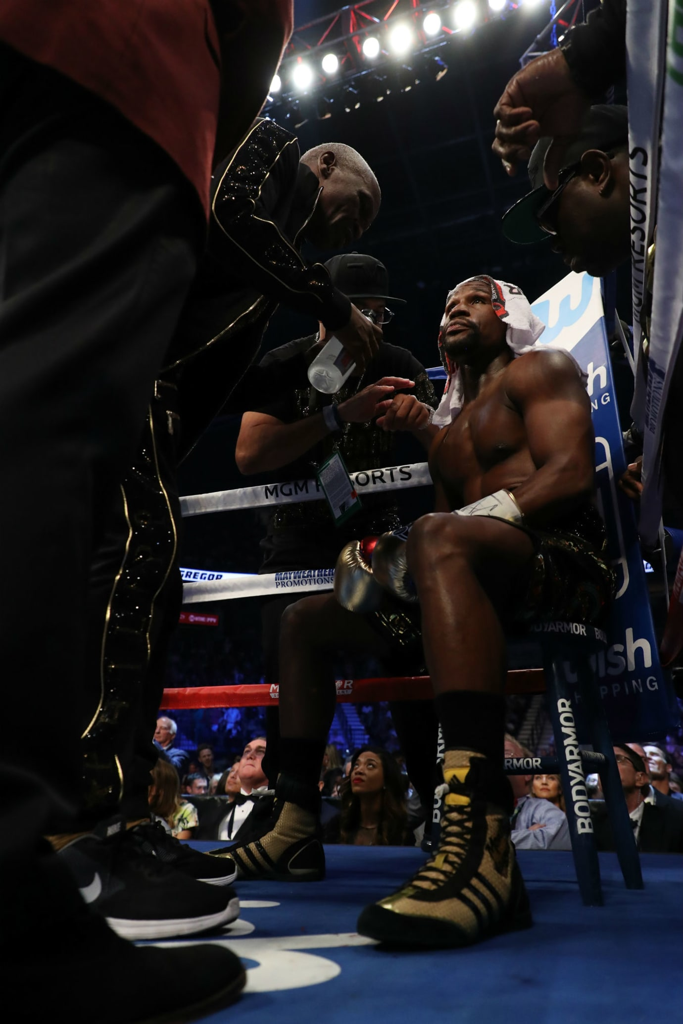 Floyd Mayweather Knocks Out Conor McGregor in Adidas Boxing Boots (1)