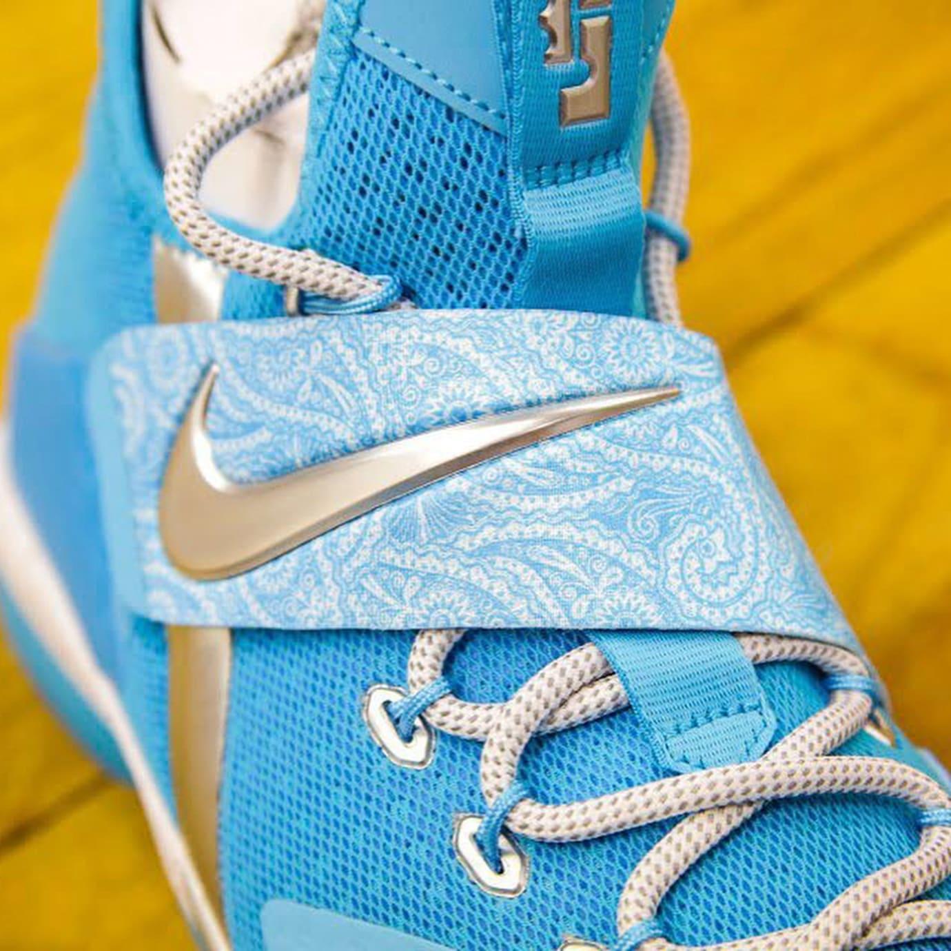 Nike LeBron 14 Blue White Release Date Strap AA3258-404