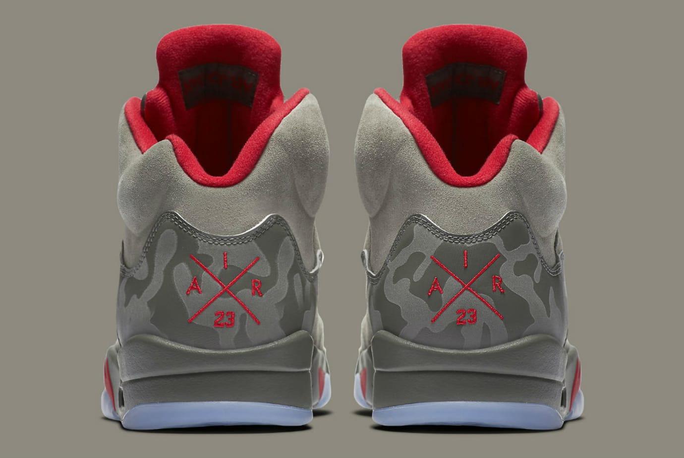 Air Jordan 5 Camo Release Date Heel 136027-051