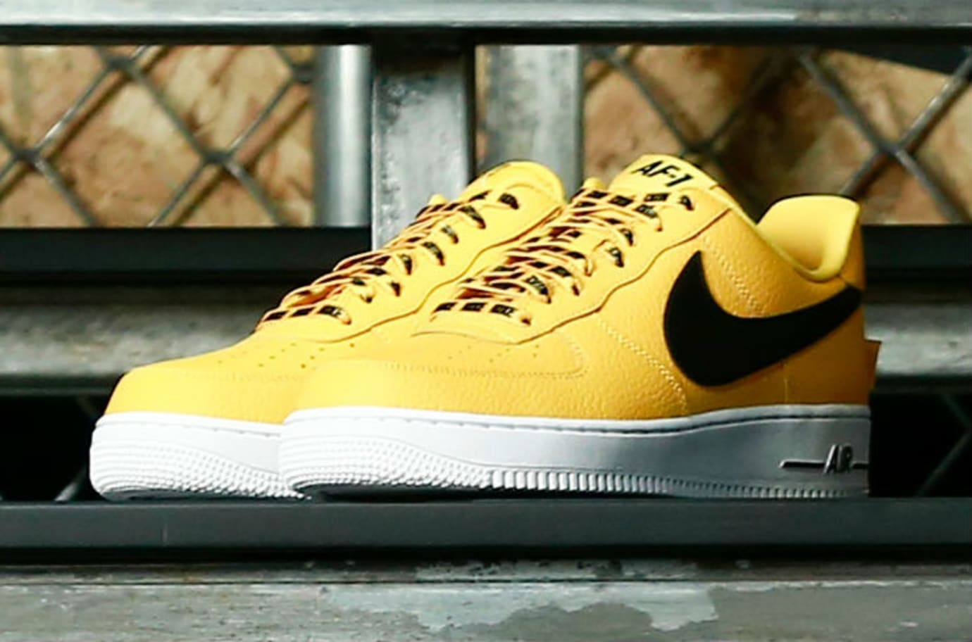 Nike Air Force 1 Low Statement Game NBA Logos Yellow