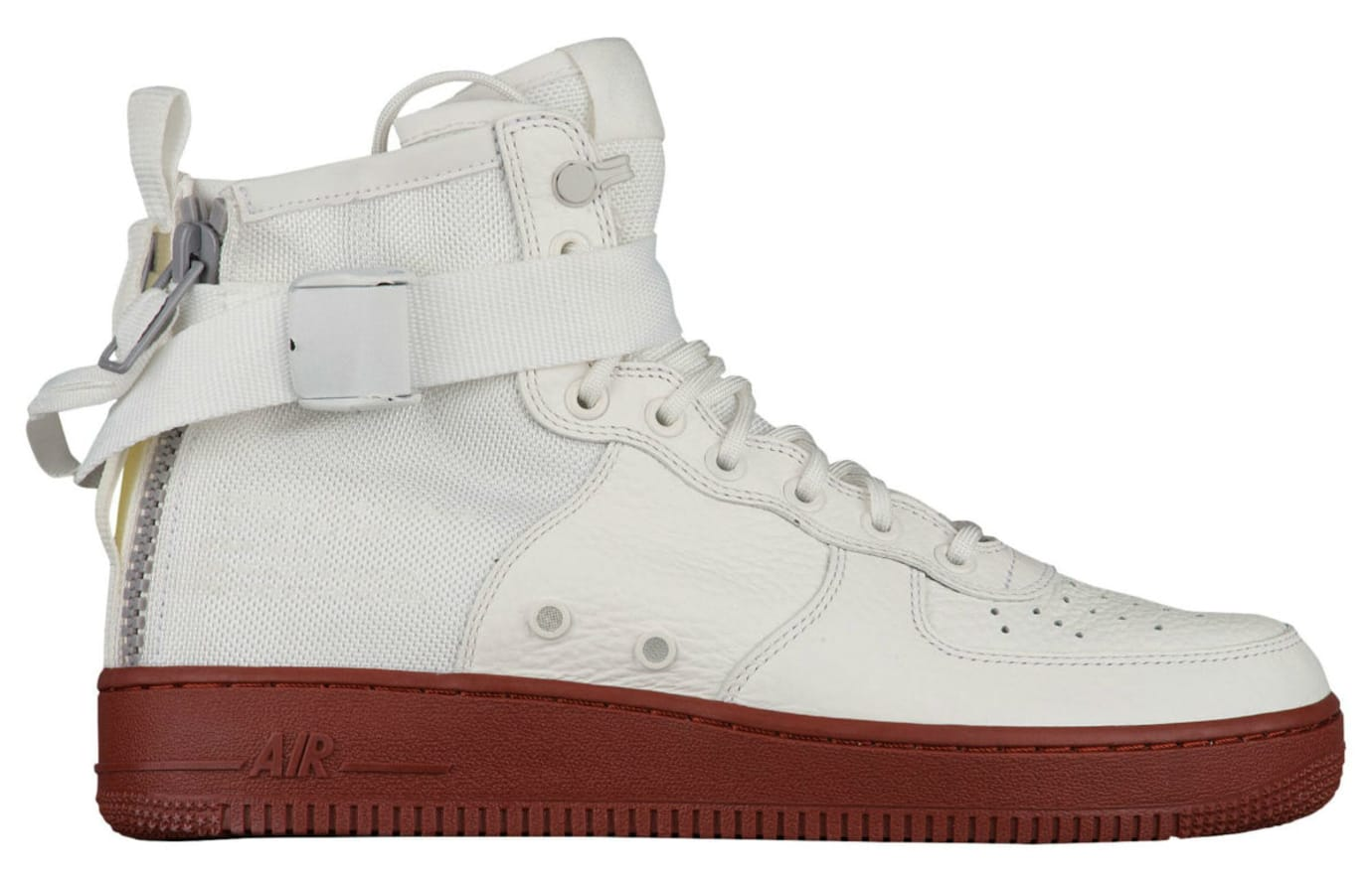 Nike SF Air Force 1 Mid Ivory Dark Red Release Date Profile 917753-100