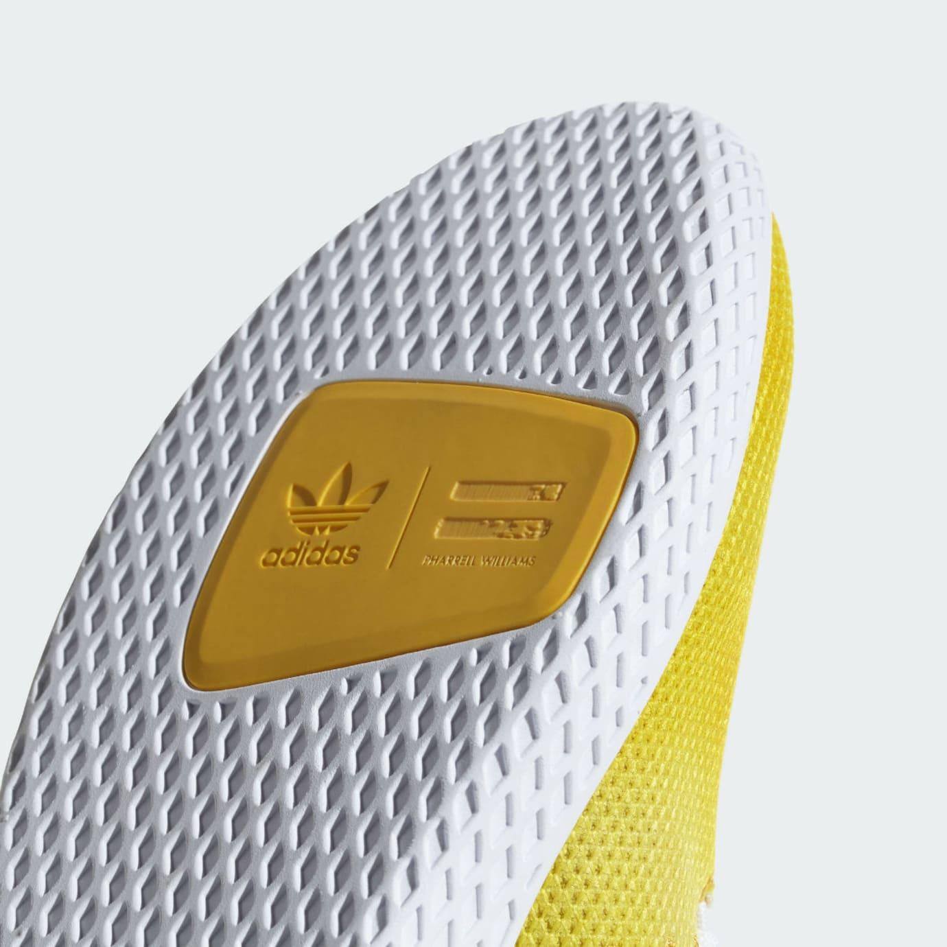Pharrell x Adidas Tennis Hu Holi Bright Yellow Release Date DA9617 Outsole