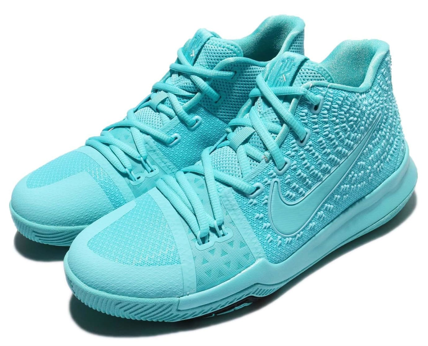 Nike Kyrie 3 GS Aqua Release Date Lateral 859466-401
