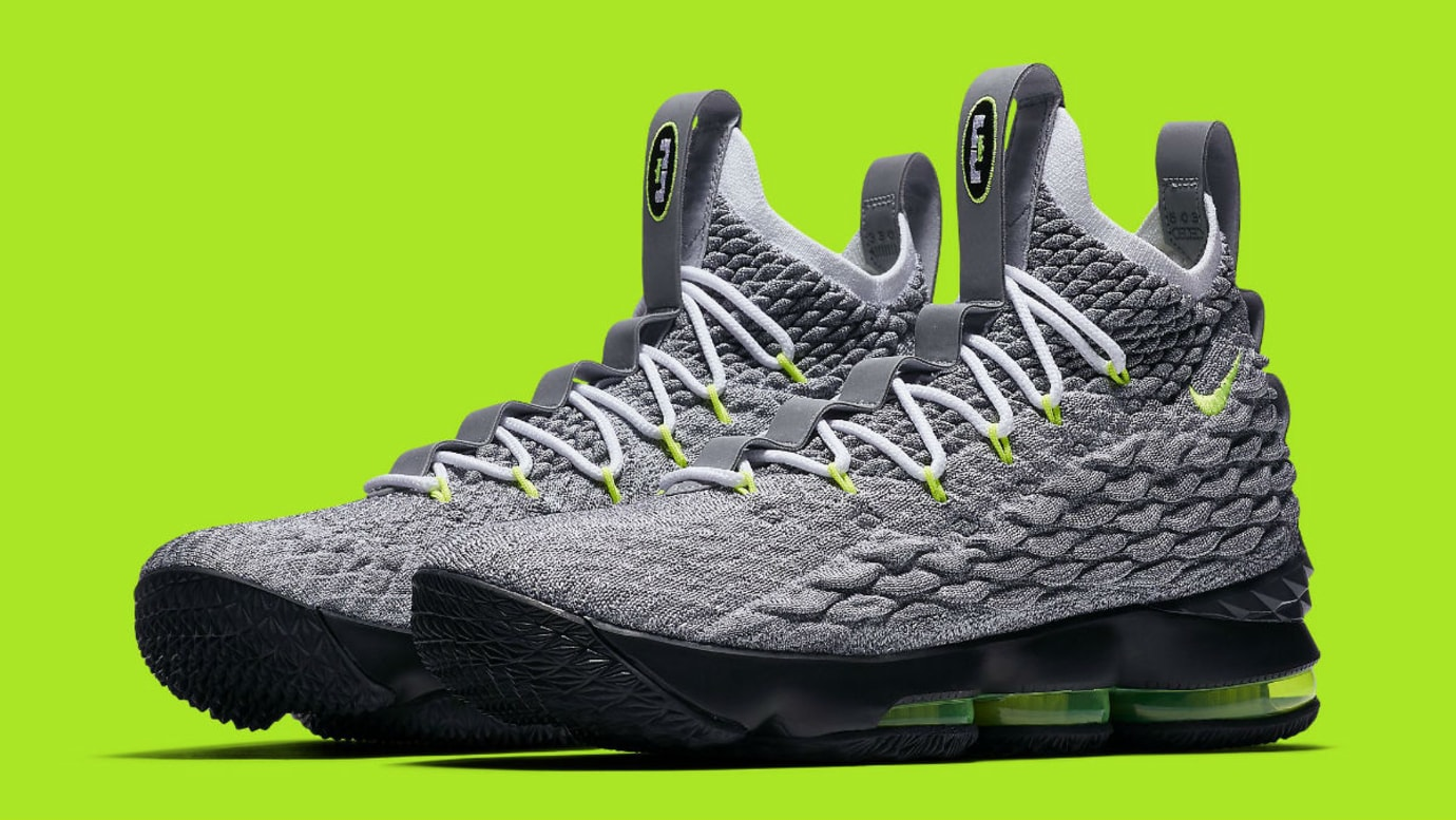 Image via Nike Nike LeBron 15 Air Max 95 Neon Release Date AR4831-001 Main 08cc21354