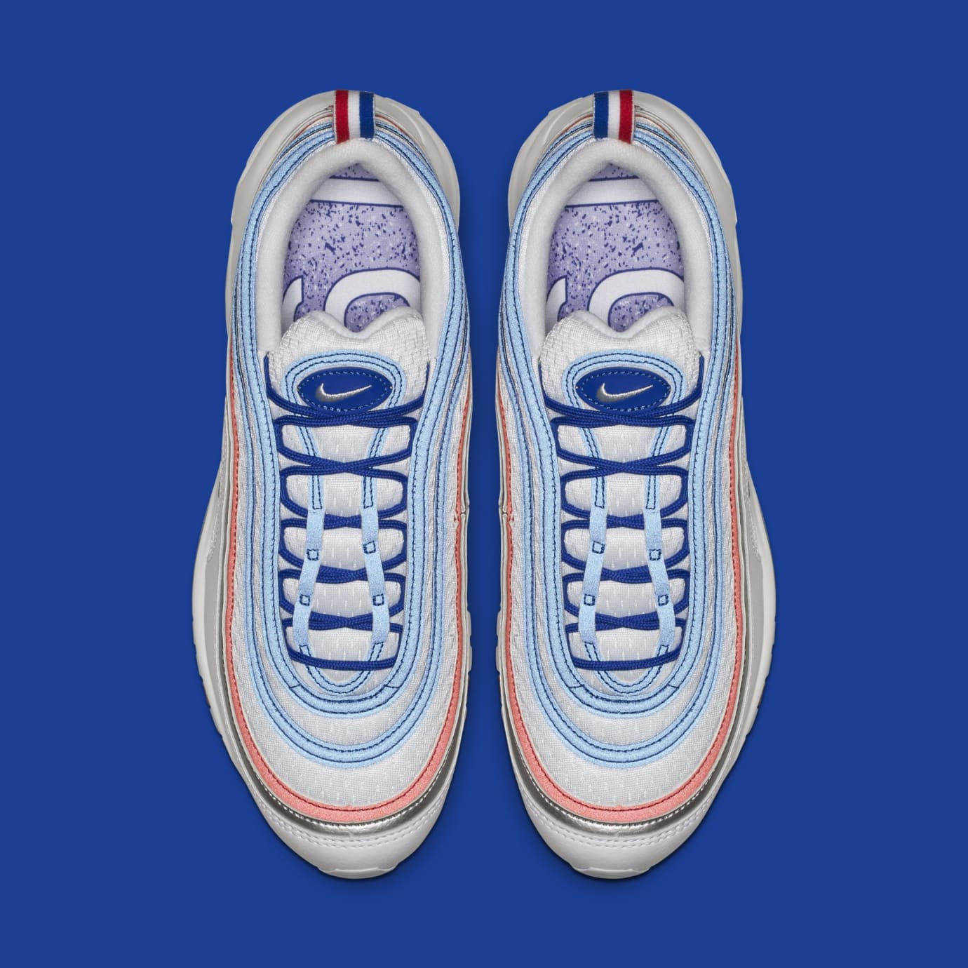 a89f35ef13a Image via Nike Nike Air Max 97  Game Royal Metallic Silver-White  921826-404