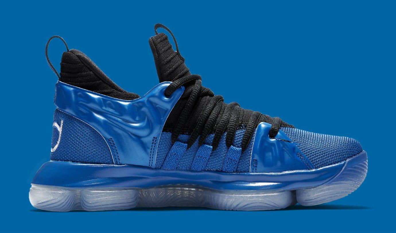 reputable site 76500 38c05 Nike KD 10 GS Foamposite Royal Release Date AJ7220-500 Medial