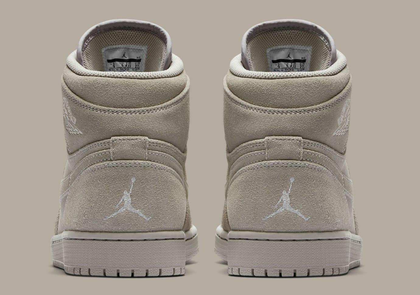 b2c91f5bc3d802 Air Jordan 1 High Wolf Grey Suede Release Date Heel 332550-031