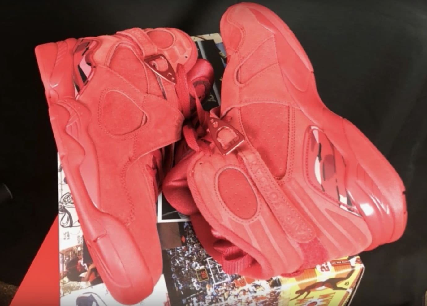 Wmns Air Jordan 8 Valentine S Day Gym Red Ember Glow Team Red