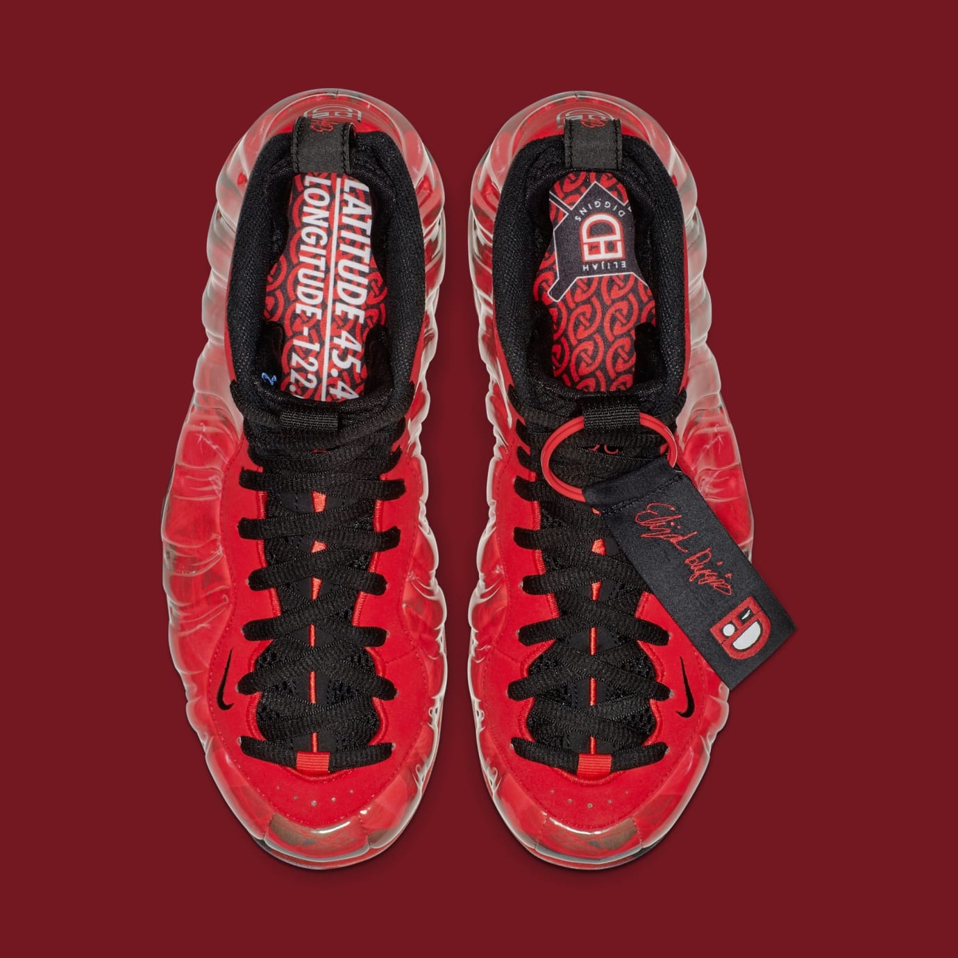 c77b4a10bc4edb Image via Nike Nike Air Foamposite One  Doernbecher  Challenge Red Black  641745-600 (Top