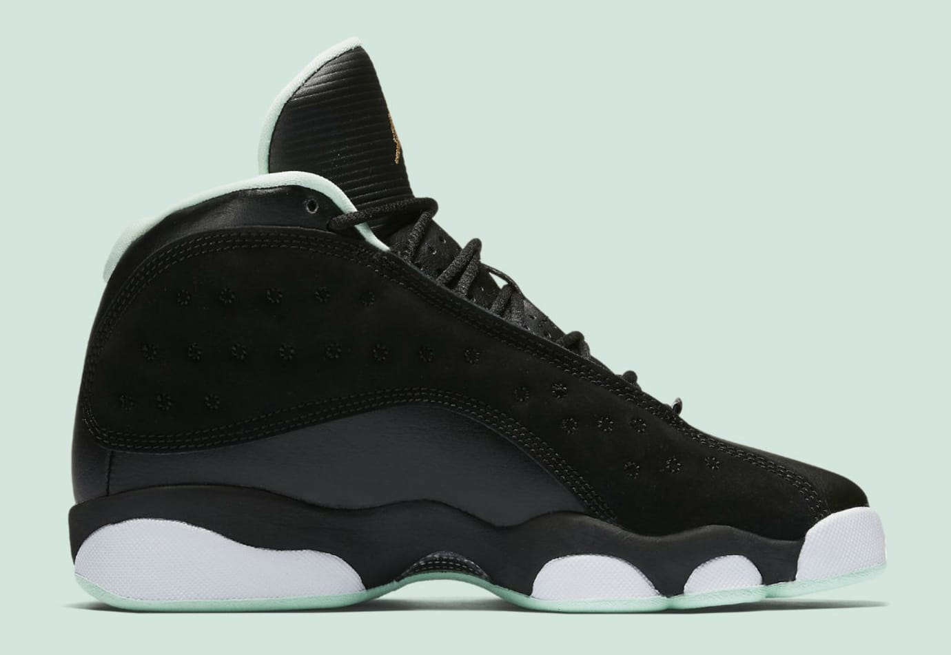 hot sale online a1c24 a6f91 Air Jordan 13 Mint Foam Release Date Medial 439358-015