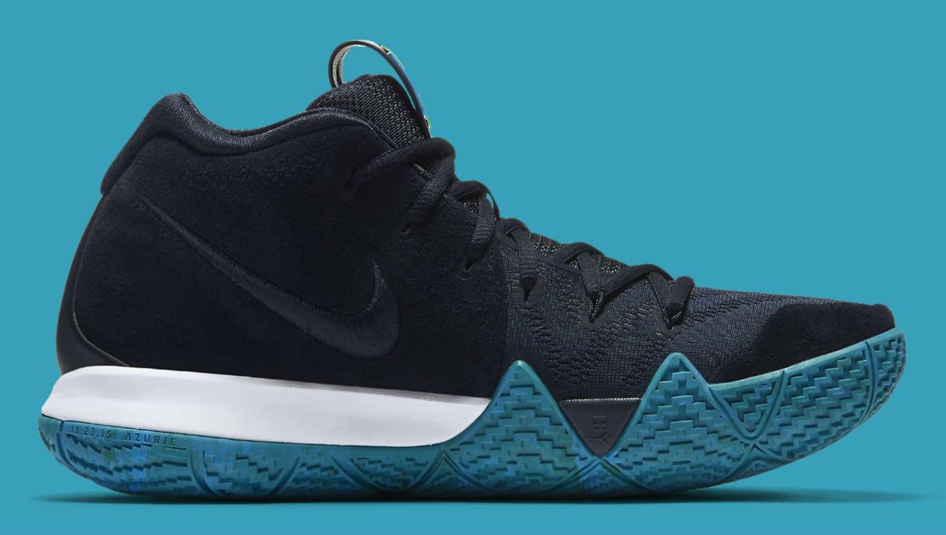 Nike Kyrie 4 Dark Obsidian Release Date 943806-401 Medial