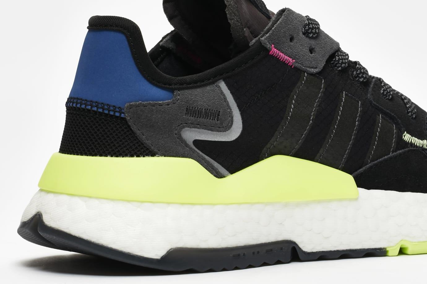 Image via SneakersNStuff SNS x Adidas Nite Jogger  Black Carbon-Grey Six   EE9462 (Detail 2903ca487