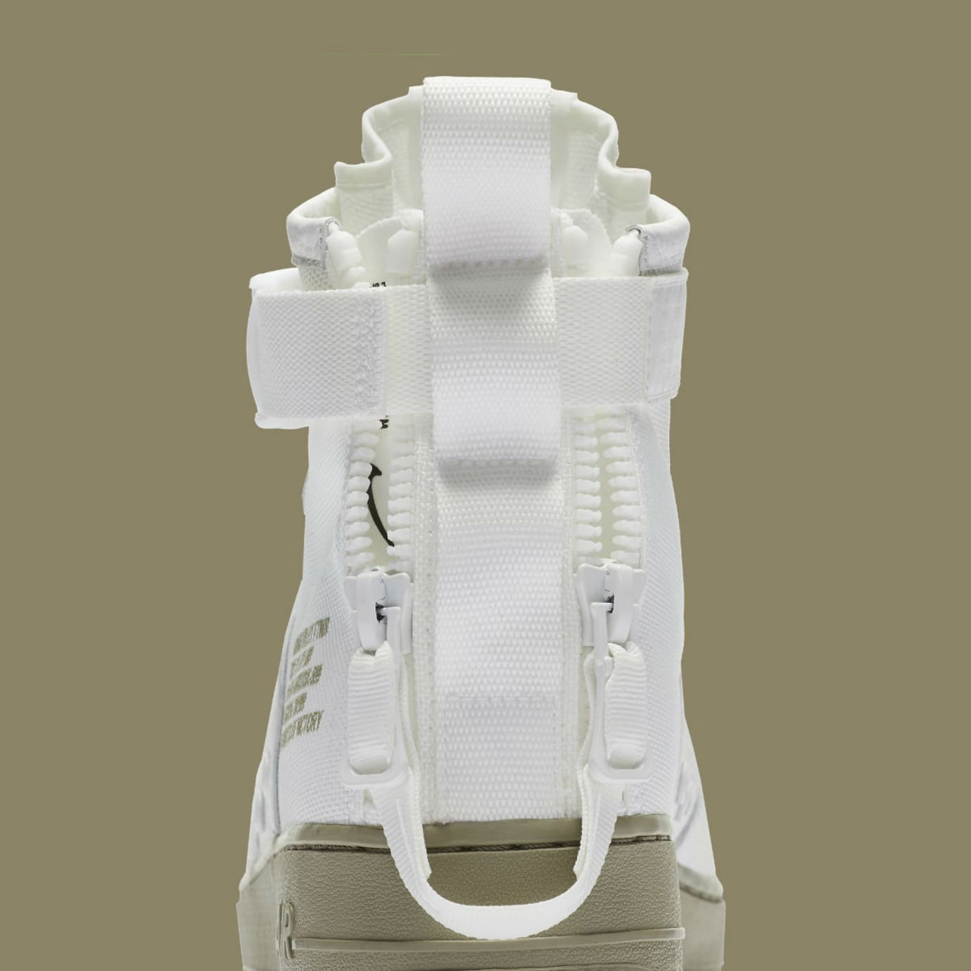 Nike SF Air Force 1 Mid Ivory Neutral Olive Release Date Pull-Tab 917753-101