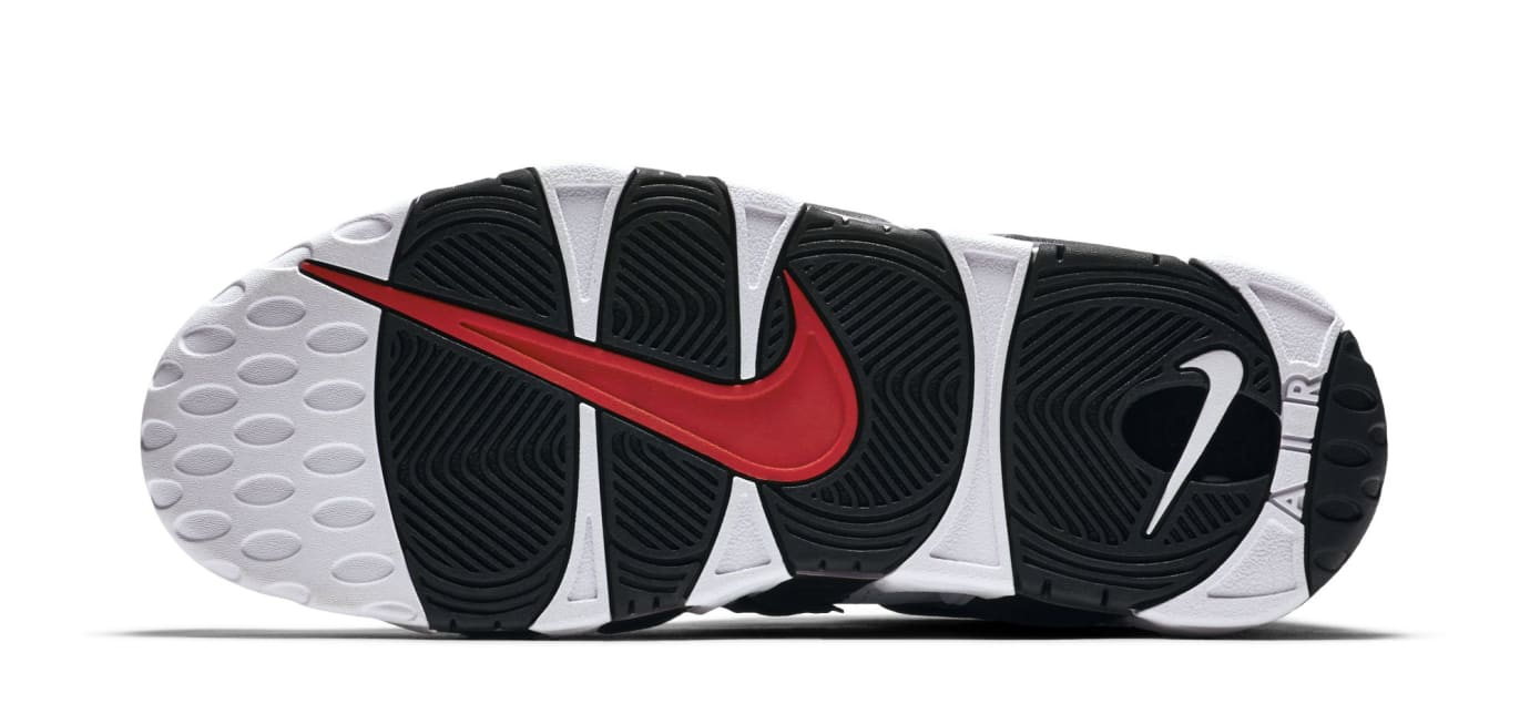 Nike Air More Uptempo White Black Varsity Red Sole