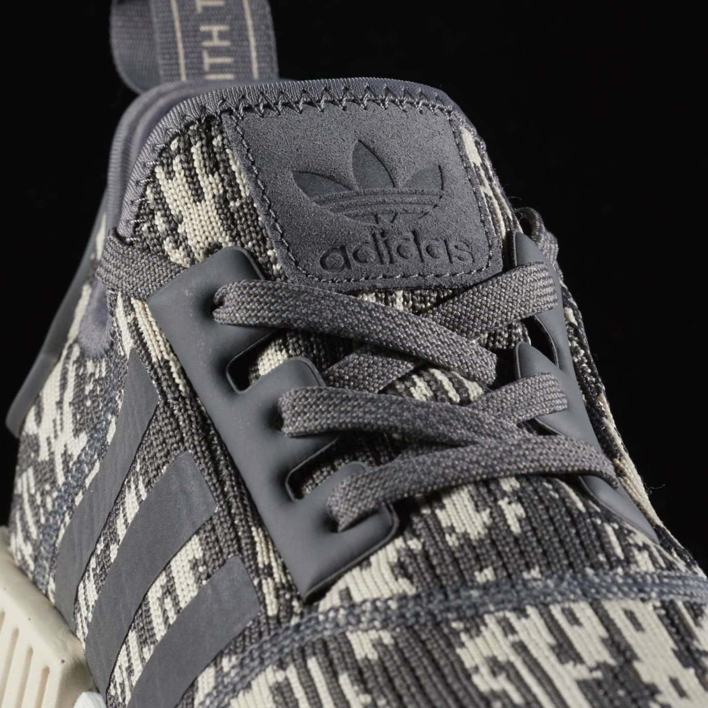 Adidas NMD Grey Linen Camo Release Date Laces
