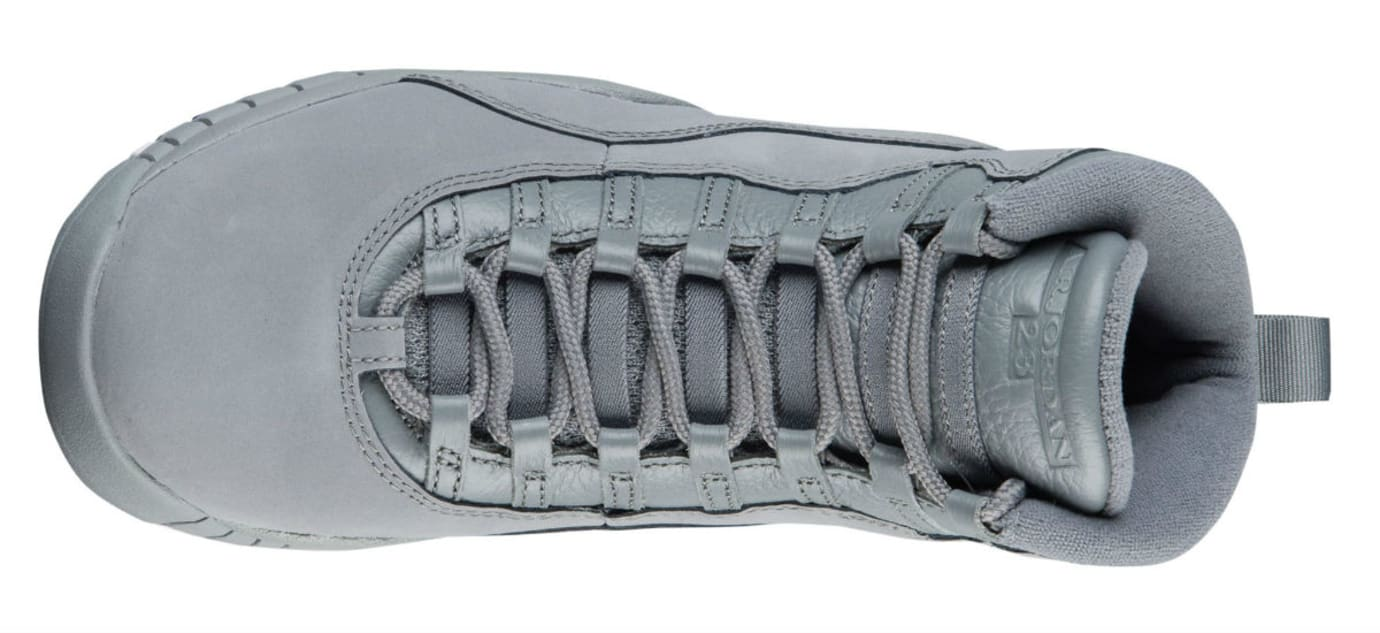 Air Jordan 10 X Cool Grey Release Date 310805-022 Top