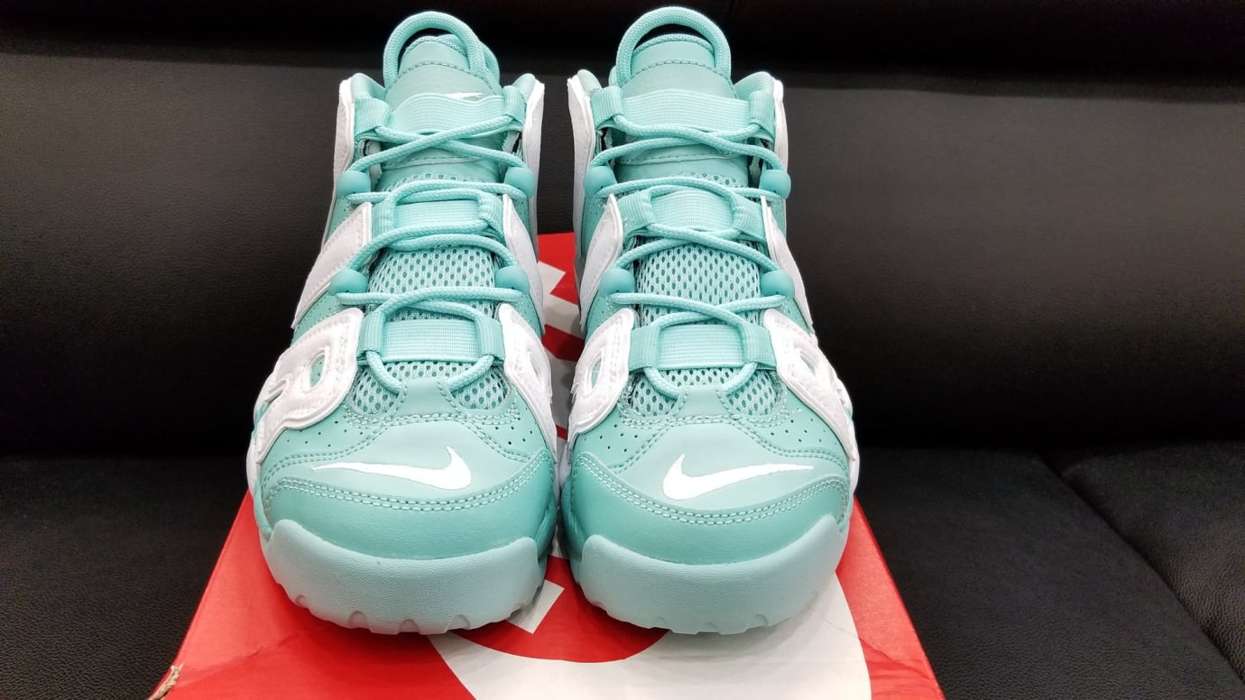 Nike Air More Uptempo GS Island Green Release Date Front 415082-300