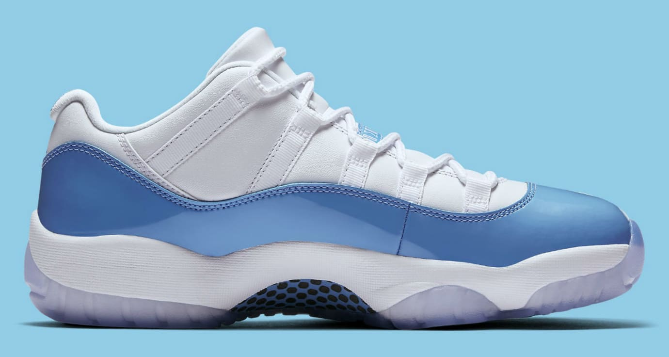 Air Jordan 11 Low UNC University Blue Release Date Medial 528895-106
