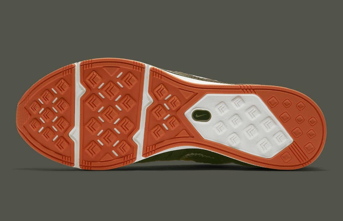 Nike Flyknit Trainer Dark Green Release Date AH8396-202 Sole