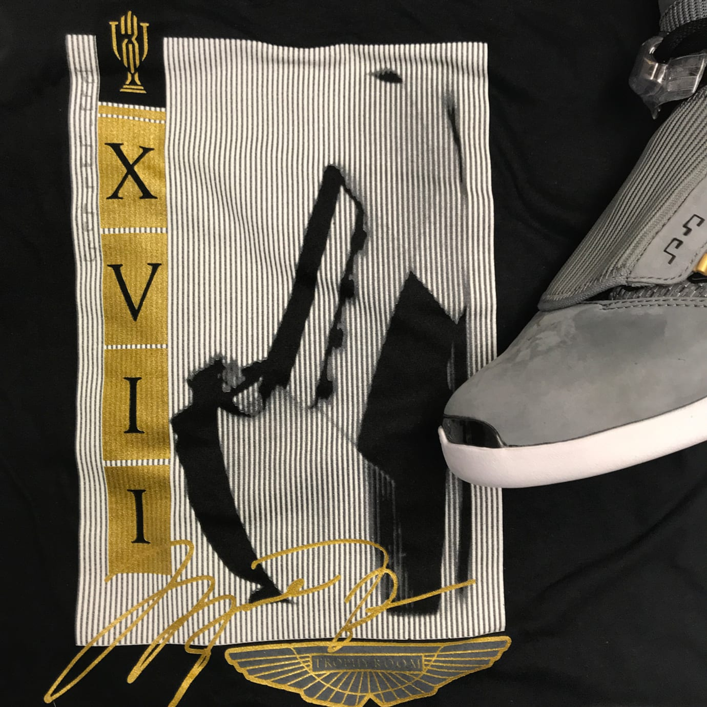 Trophy Room x Air Jordan 17 Cool Grey Release Date AH7963-023 Shirt