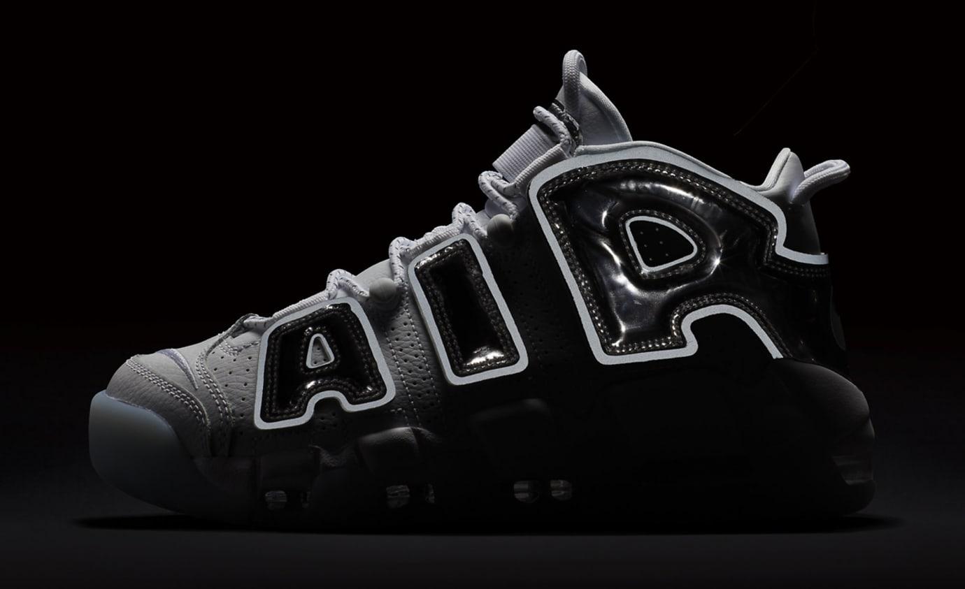 830ab98d5151 Image via Nike Nike Air More Uptempo Chrome 917593-100 Reflective