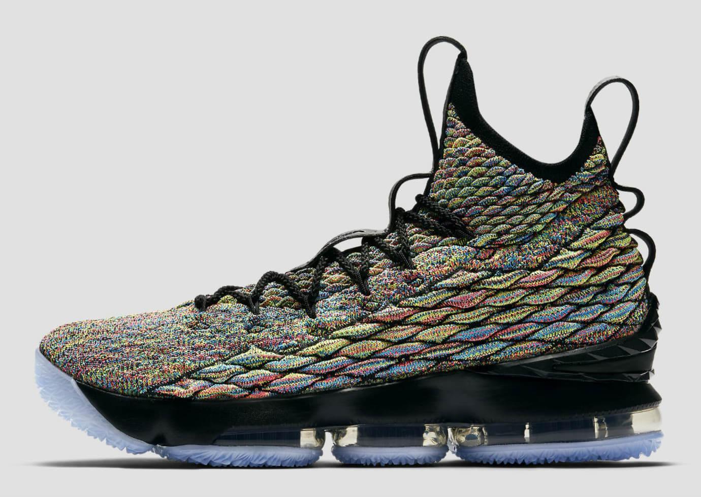 5e149aabdc5 Nike LeBron 15 XV Four Horsemen Black Fruity Pebbles Release Date  897648-901 Profile