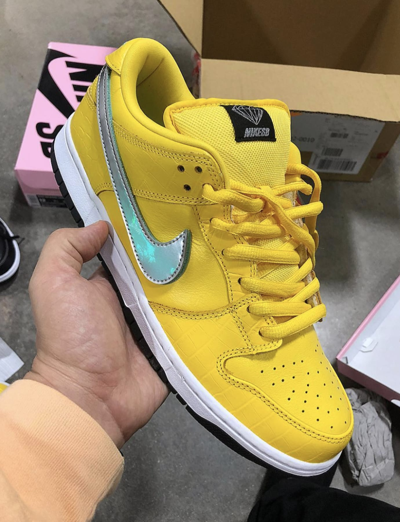 new arrivals b802e cc5e4 Diamond Supply Co. x Nike SB Dunk Low Canary Yellow 1