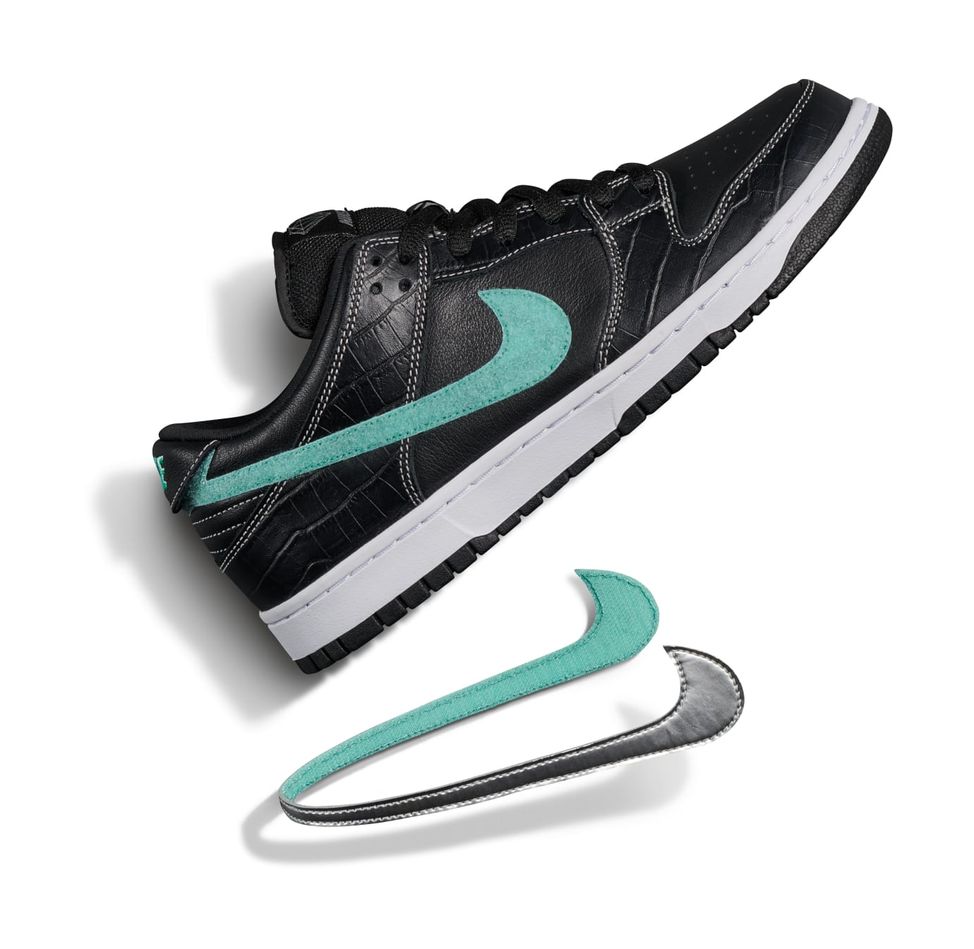 f6a76cc0c4e4 Diamond Supply Co. x Nike SB Dunk Low  Black Diamond  Release Date ...