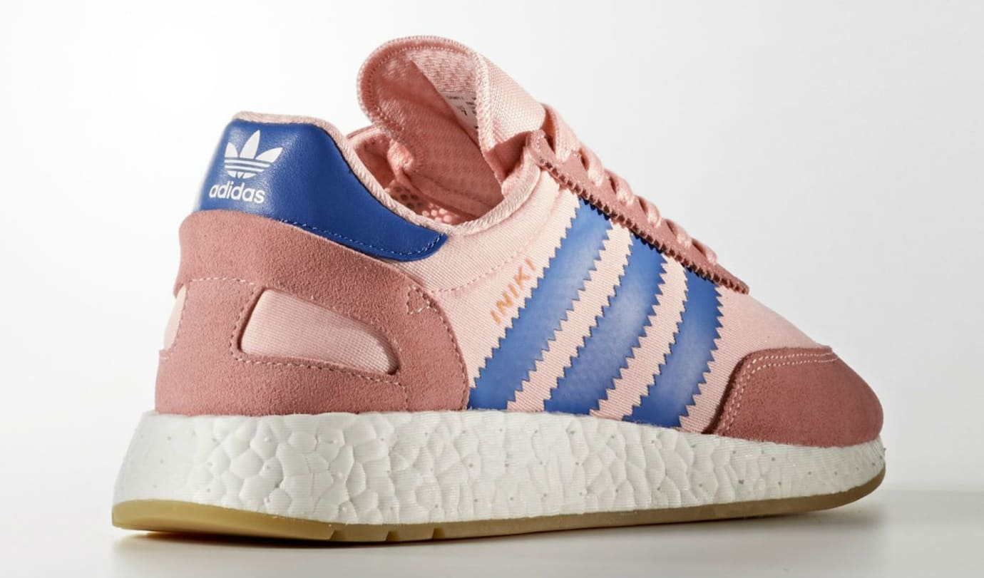 Adidas Iniki Haze Coral Blue Release Date Heel BA9999