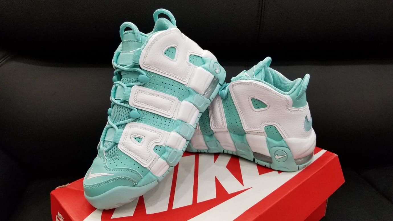 Nike Air More Uptempo GS Island Green Release Date Left 415082-300