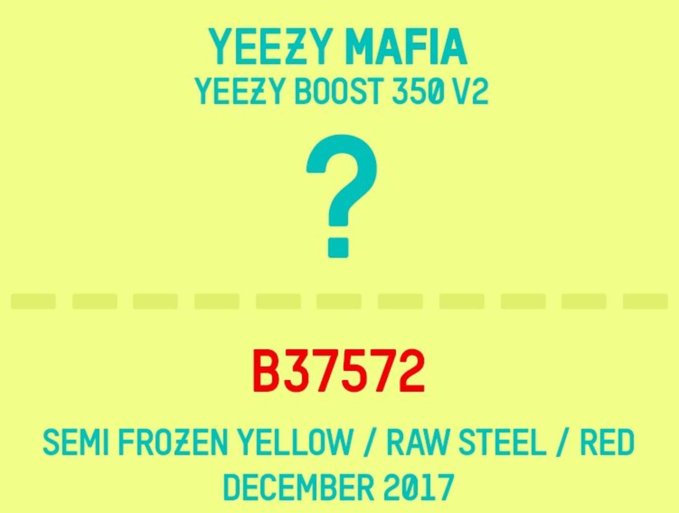 285de94a5c1 Adidas Yeezy Boost 350 V2 Semi Frozen Yellow B37572