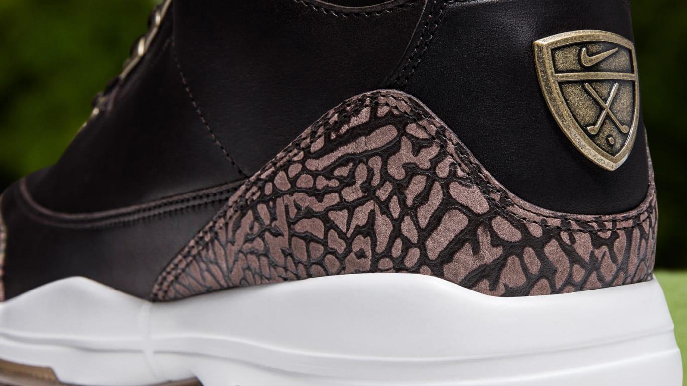 Air Jordan 3 Golf Premium 'Bronze' (Heel)