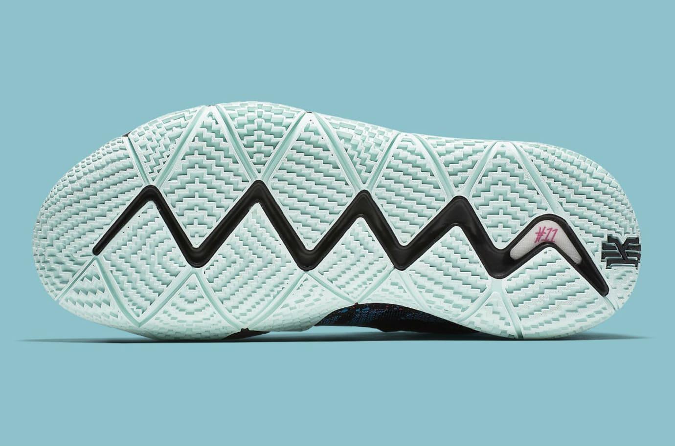 cbec2ab68f4f Image via Nike Nike Kyrie 4 Black Laser Fuchsia Release Date 943807-007 Sole