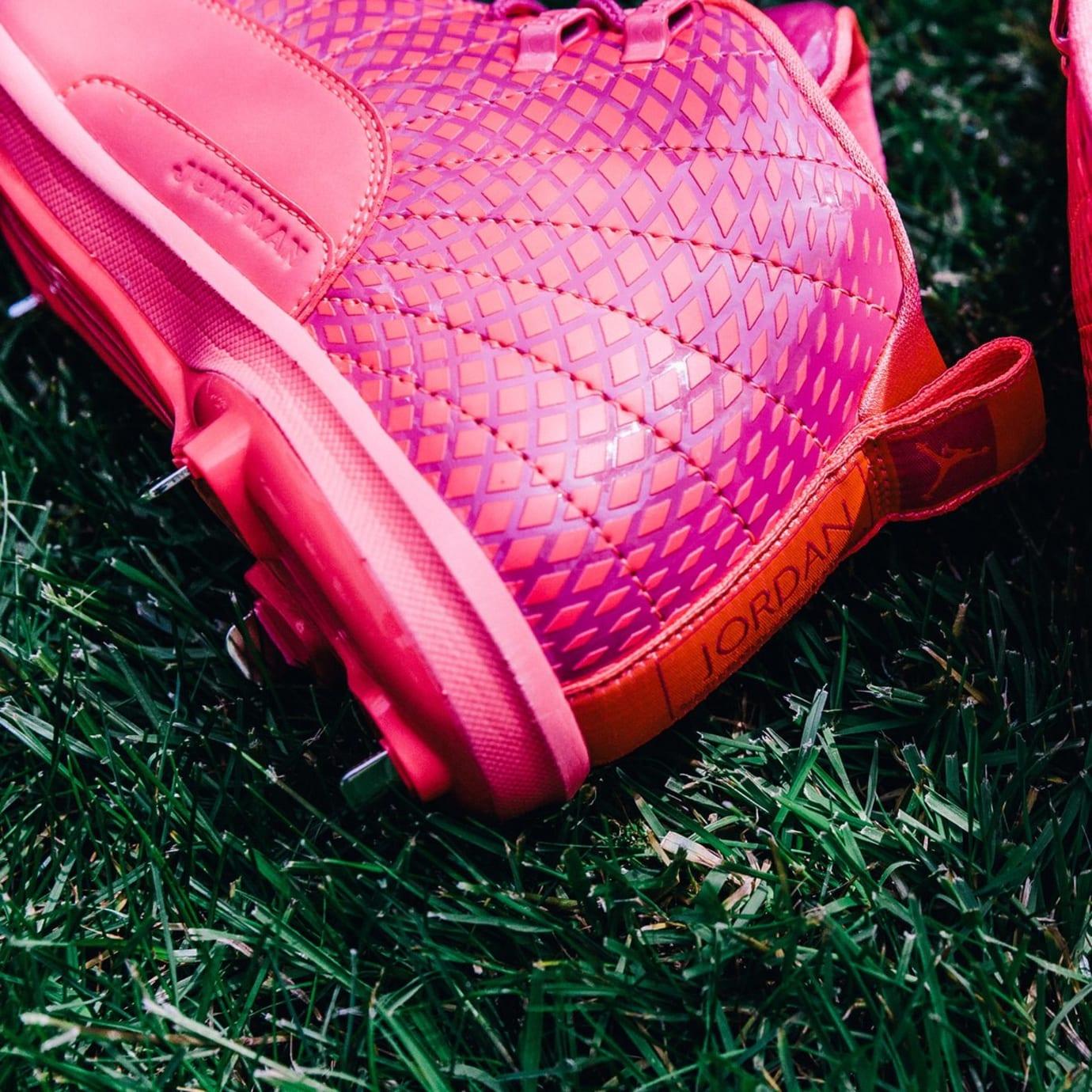 Air Jordan 12 Mother's Day Cleats Heel