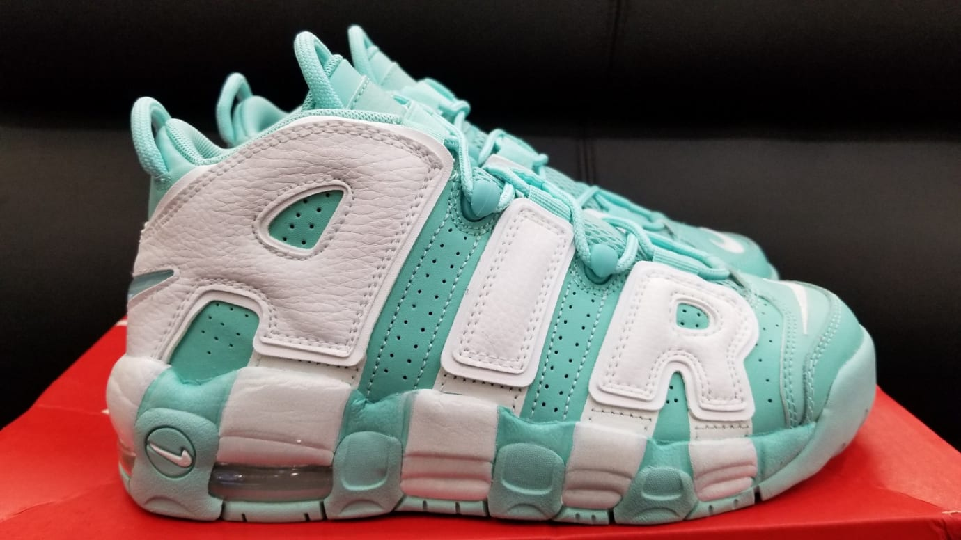 Nike Air More Uptempo GS Island Green Release Date Profile 415082-300