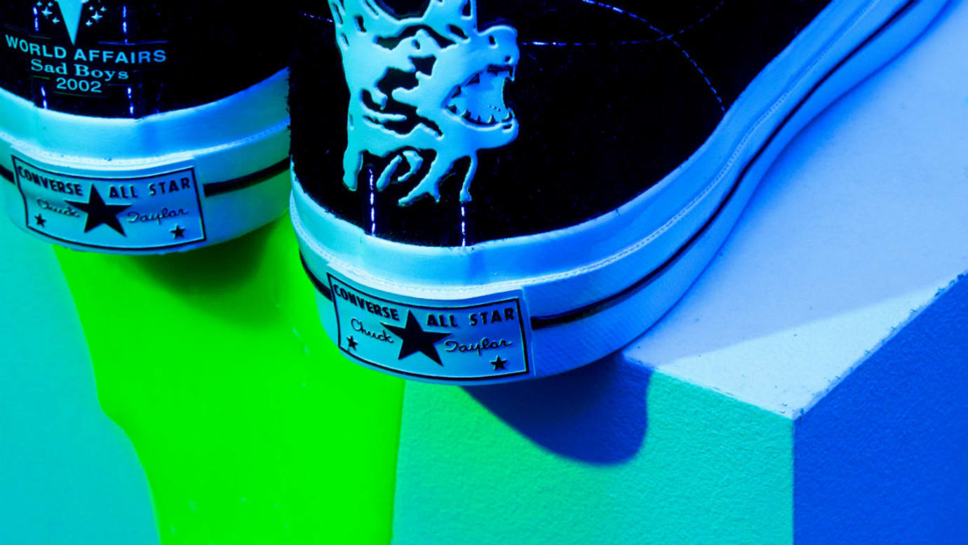 433059a7115 Image via for Fredrik Andersson · Yung Lean Sadboys Converse One Star  Release Date Heel Bumper