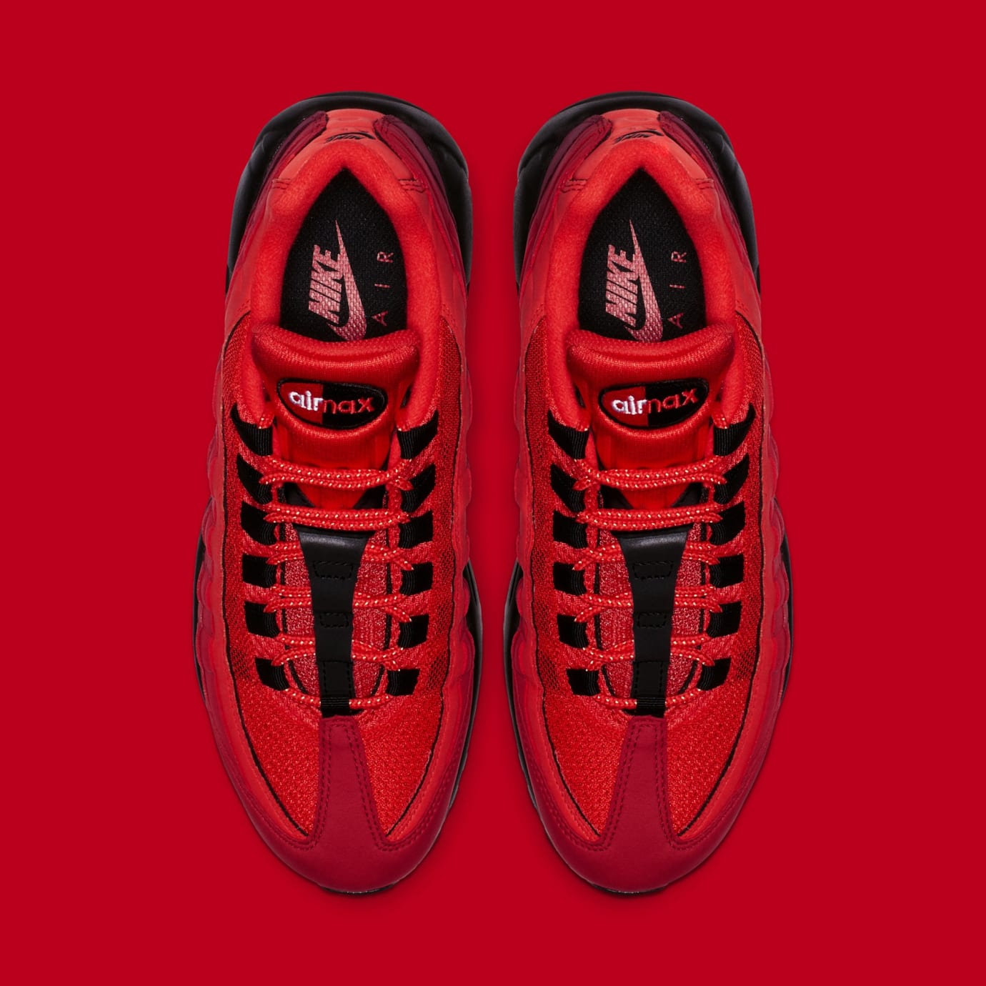 finest selection 7fc49 ec956 Image via Nike Nike Air Max 95  Habanero Red Black-White  AT2865-600 (