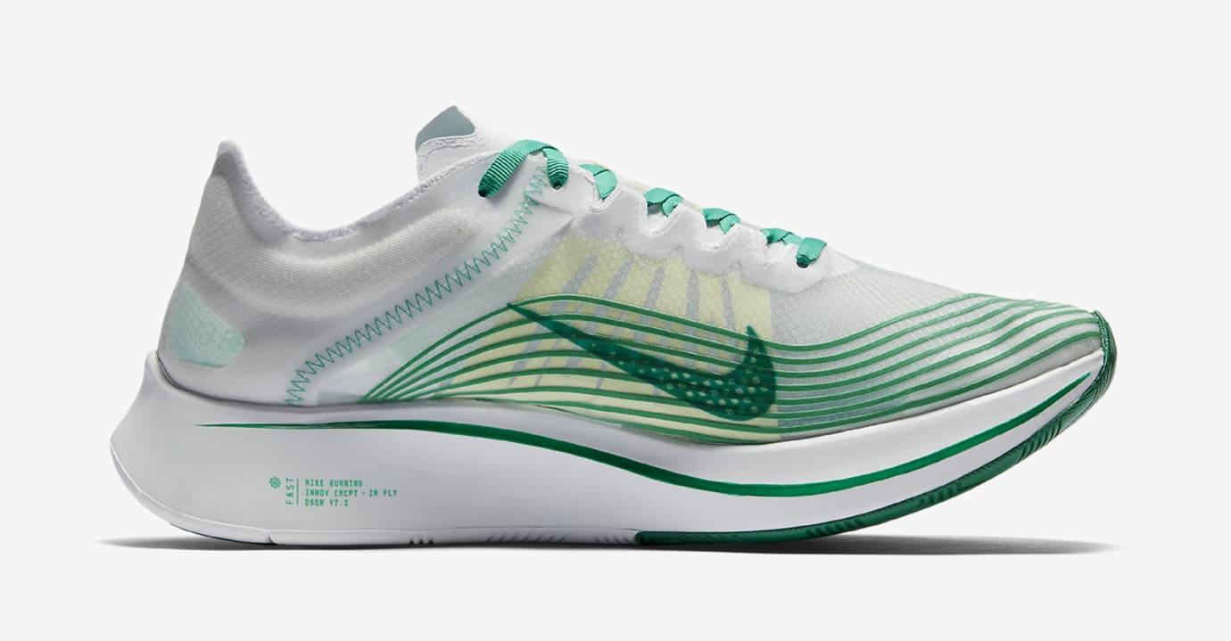 Nike Zoom Fly SP White Lucid Green AJ9282-101 Medial