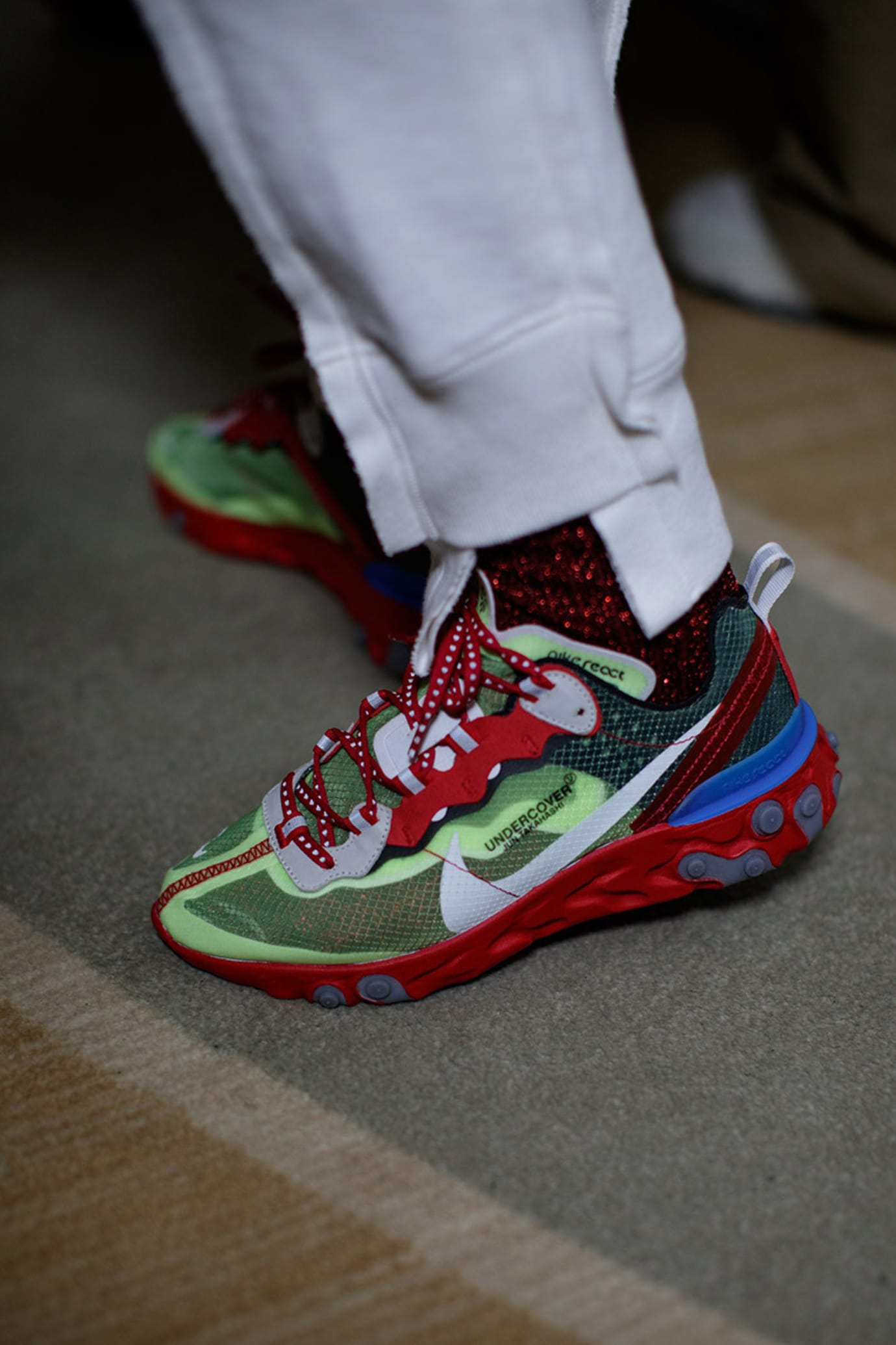 Undercover x Nike React element 87 Red/Volt