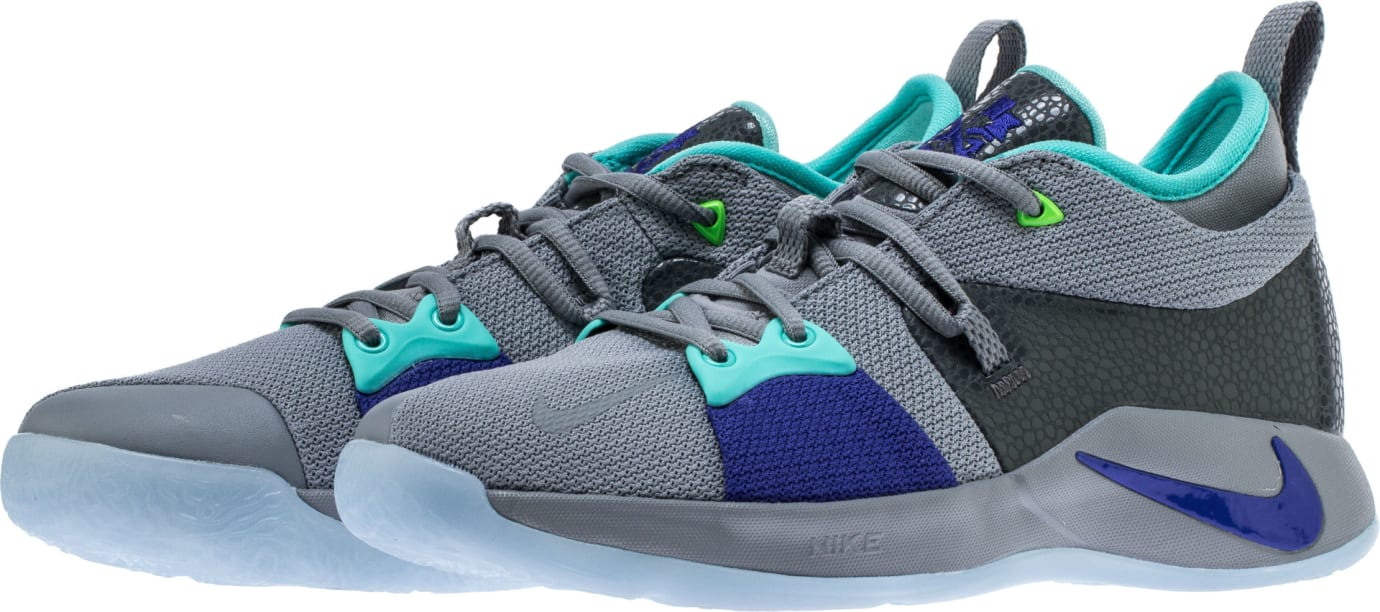 ef6092e8291 Nike PG2 Pure Platinum Neo Turquoise Wolf Grey Aurora Green Release Date  AJ2039-002 Front