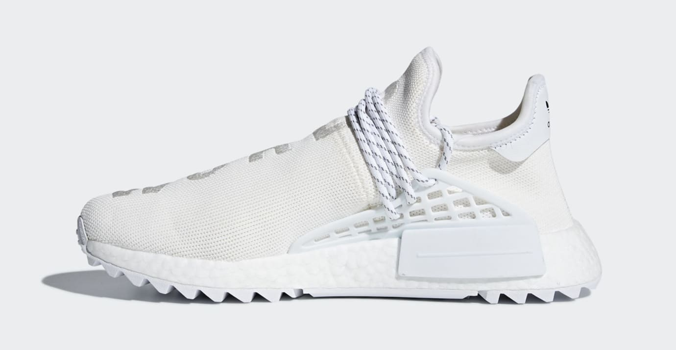 Pharrell Adidas NMD Hu Trail Blank Canvas AC7031 White Medial