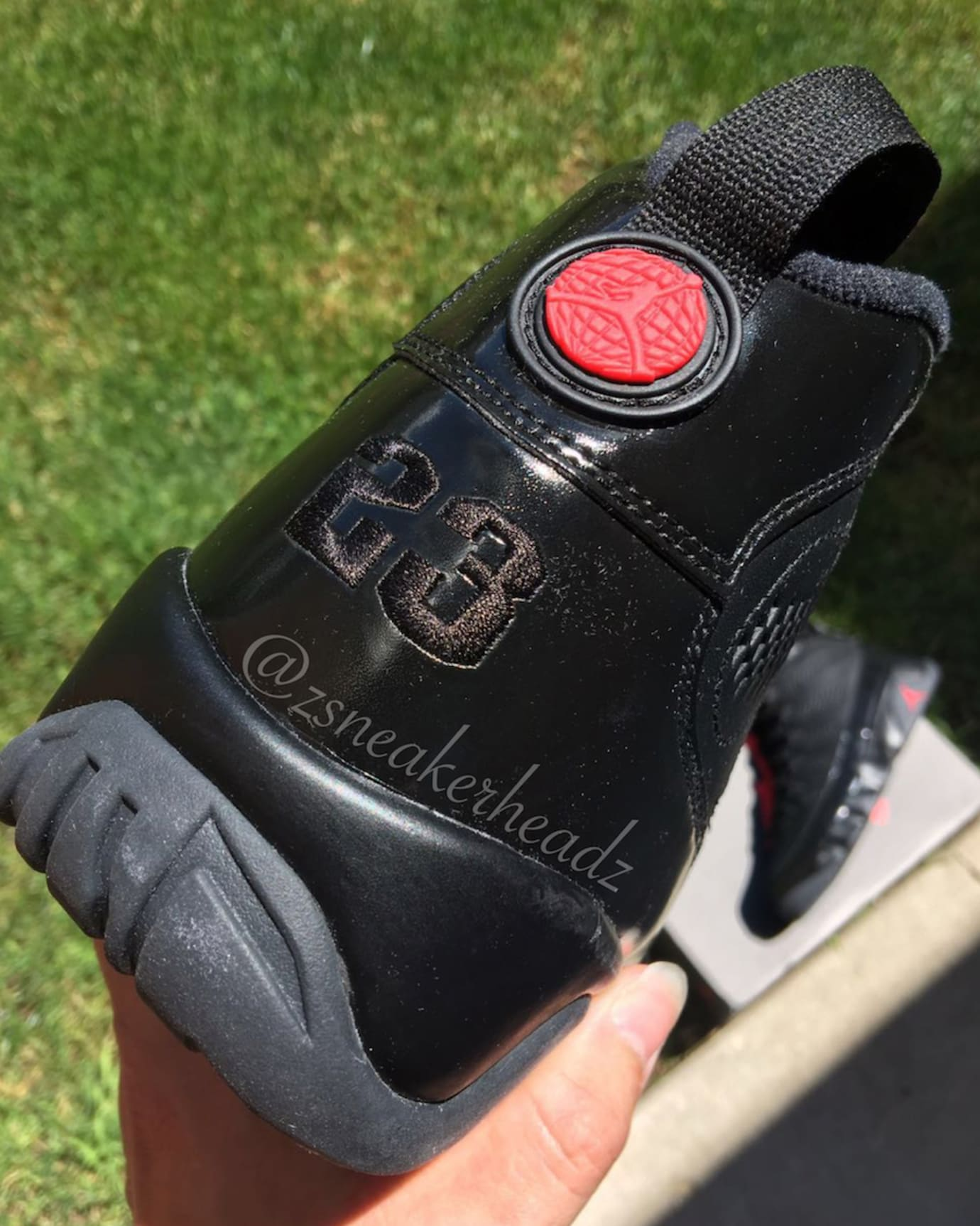 Air Jordan 9 Black Anthracite Red 2018 Release Date 302370-014 Heel