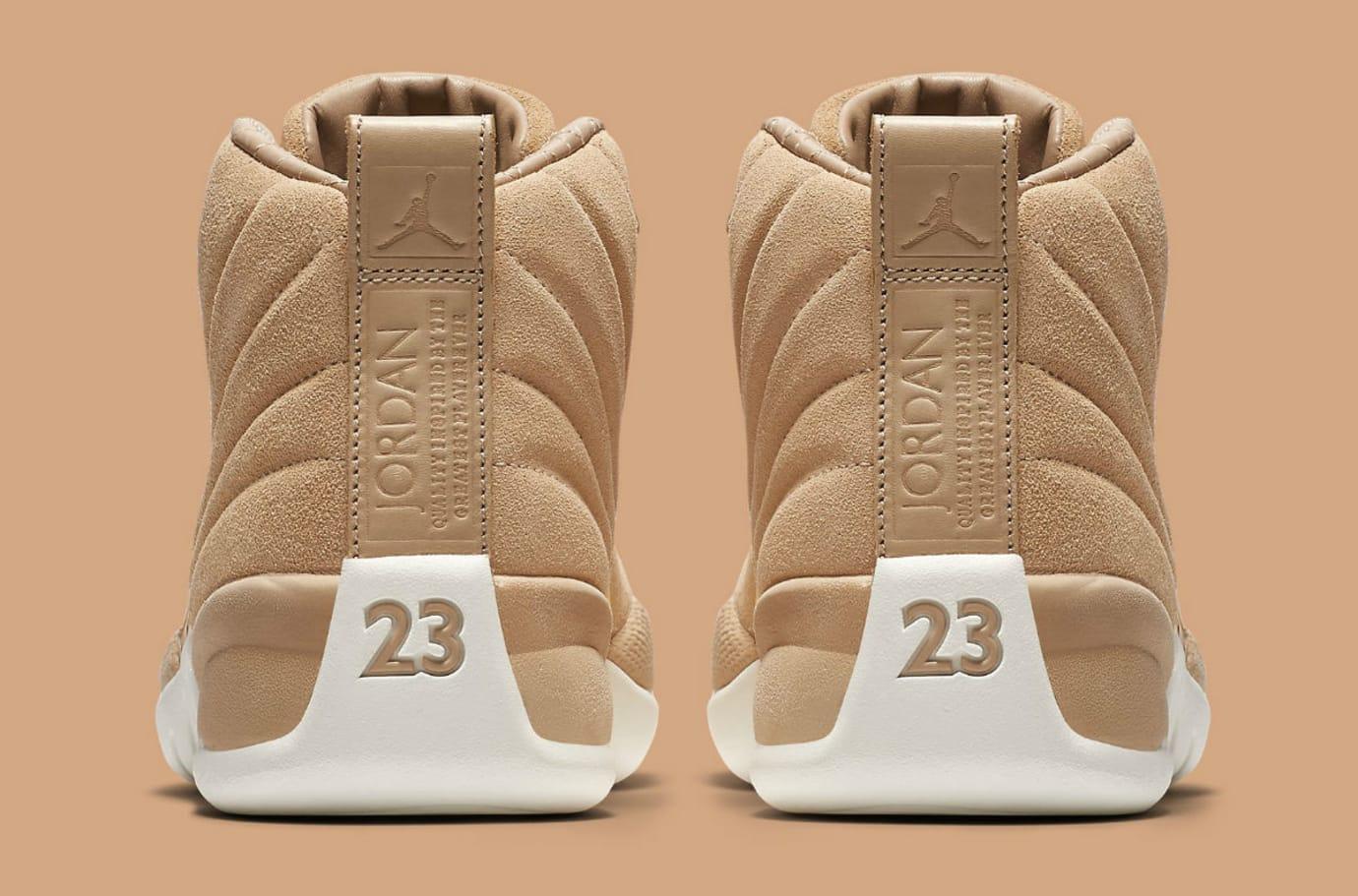 Air Jordan 12 XII Women's Vachetta Tan Release Date AO6068-203 Heel