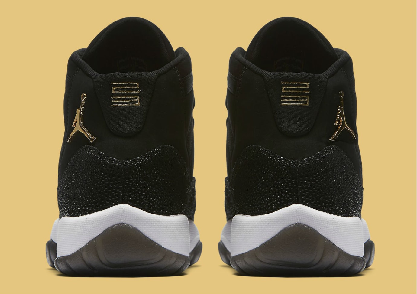 e519e54bc667 Air Jordan 11 XI Heiress Collection Black Gold Release Date 852625 ...