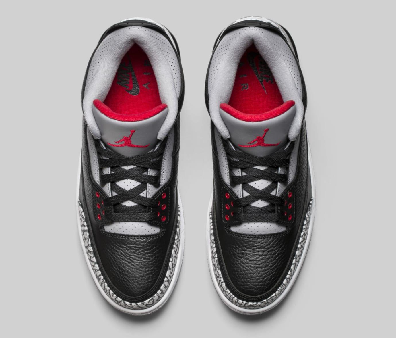 Air Jordan 3 III Black Cement Release Date 854262-001 Top